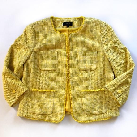 Talbots Jackets & Blazers - Talbots yellow tweed jacket dressy blazer NWOT